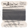 Dazzle-it 100% Silk Bead Cord with needle 2M #6(0.70mm) Grey